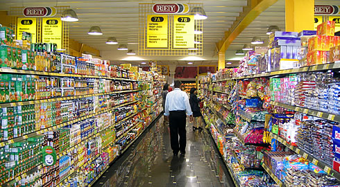 Panama's supermarkets offer a wide variety of goods from all over the world.